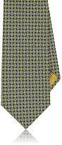 Brioni Men's Circle Silk Jacquard Necktie-YELLOW