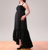 Spaghetti Strap Ruched Maternity Dress