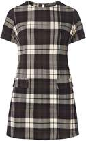 Dorothy Perkins Green And Cream Checked Tunic