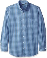 Arrow Men's Big-tall Big and Tall Long Sleeve Hamilton Poplin Multi Gingham Shirt