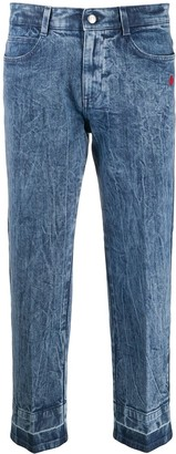 Stella McCartney Heart-Embroidered Cropped Jeans