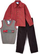 Good Lad Gray Train Sweater Vest Set - Boys