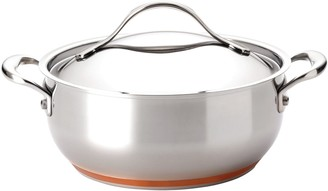 Anolon Nouvelle Copper Stainless Steel 4-qt. Chef Casserole