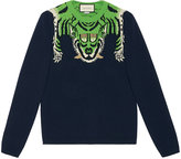 Gucci Wool sweater with tiger - men - Wool - S