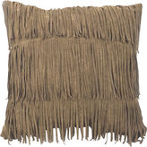 Asstd National Brand Faux-Suede Fringe Decorative Pillow