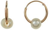 Candela 14K Gold Hoop Earrings with 3mm Freshwater Pearl