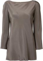 Peter Cohen long-sleeve silk blouse