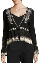 Nanette Lepore Bella Embroidered Cardigan