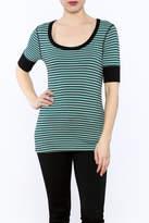 3 Dot Stripe Tunic Top