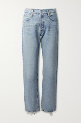 Citizens of Humanity Emery Distressed High-rise Straight-leg Jeans - Light denim