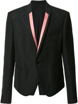 Haider Ackermann contrast lapel blazer - men - Rayon/Cotton/Linen/Flax/Polyester - 48