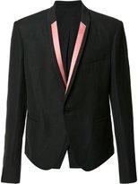 Haider Ackermann contrast lapel blazer