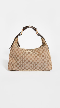 Shopbop Archive Gucci GG Canvas Horsebit Hobo Bag