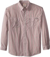 Dickies Men's Big Long Sleeve Plaid with Inverted Pocket