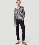 LOFT Modern Slim Ankle Jeans in Dark Rinse Wash