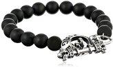 King Baby Studio Black Onyx Bead with Silver Clasp Bracelet