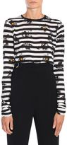 Proenza Schouler Stripes And Flower Print T-shirt