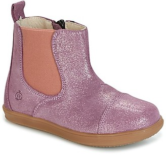 Citrouille et Compagnie HUETTE girls's Mid Boots in Pink