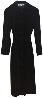 Lanvin Black Velvet Coat for Women Vintage