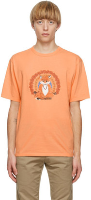 MAISON KITSUNÉ Orange Flower Fox T-Shirt