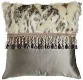 """Dian Austin Couture Home Penthouse Suite Faux-Fur & Silk Pillow, 20""""Sq."""