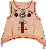 Scotch R'Belle EMBROIDERED COTTON-BLEND TUNIC