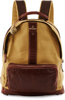 Will Leather Goods Felix Dome Canvas Backpack, Tobacco/Saddle
