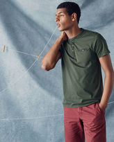 POTTA Henley neck cotton Tshirt