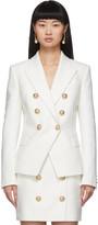 Balmain White 6-Button Blazer