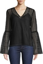Derek Lam 10 Crosby Lace Bell-Sleeve Blouse