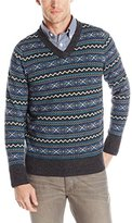 Nautica Men's Fairisle V-Neck Sweater