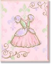 Stupell Industries The Kids Room Dress with Fleur De Lis on Rectangle Wall Plaque