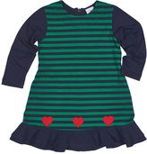 Florence Eiseman Knit Striped Dress with Hearts, Size 2-6