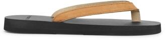 The Resort Co Nubuck tan leather sandals