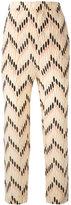 Marni zig-zag cropped trousers - women - Silk - 40