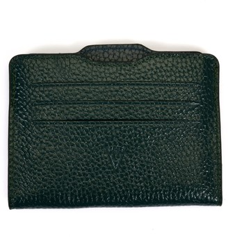 Hiva Atelier Double Card Holder Froest Green & Petrol Blue