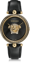 Versace Palazzo Empire Black and PVD Plated Gold Women's Watch w/3D Medusa
