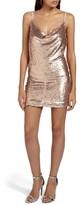 Missguided Women's Cami Cowl Neck Sequin Minidress
