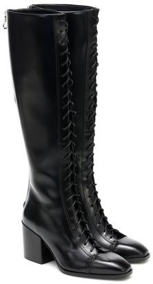 AEYDĒ Britta leather knee-high boots