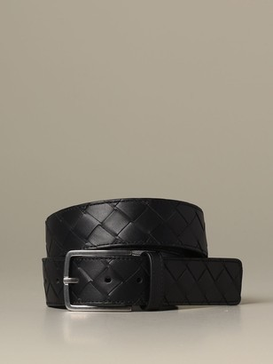 Bottega Veneta Belt In Woven Leather 1.5