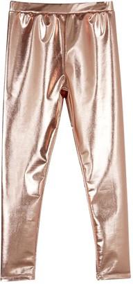 Mintie By Mint Velvet Girls Rose Gold Leggings - Gold