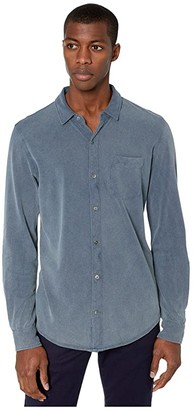 Mod-o-doc Windandsea Long Sleeve Button Front Shirt (True Navy/Stone) Men's Clothing