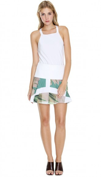Tibi Fiore Di Cactus Yoked Skirt