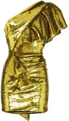 Alexandre Vauthier One-shoulder ruffled sequin mini dress