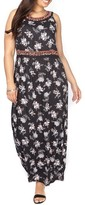 Evans Plus Size Women's Embroidered Floral Maxi Dress