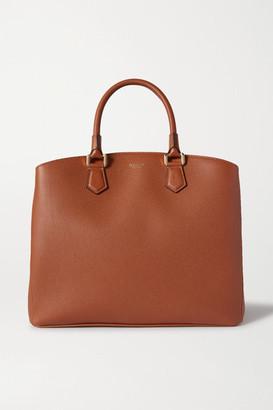 SERAPIAN Luna Textured-leather Tote - Brown