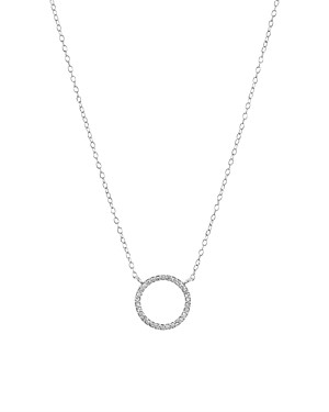 Bloomingdale's Marc & Marcella Diamond Open Circle Pendant Necklace in Sterling Silver, 15 - 100% Exclusive