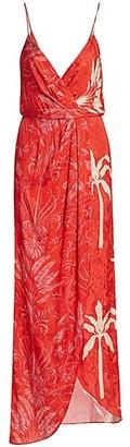 Johanna Ortiz Printed Wrap Maxi Dress