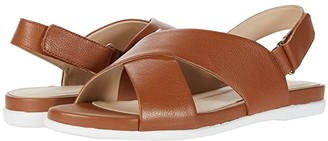 Cole Haan Grand Ambition Flat Sandal (CH British Tan Tumble Leather) Women's Shoes
