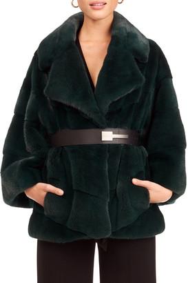 Gorski Chevron Mink Fur 3/4 Sleeve Jacket